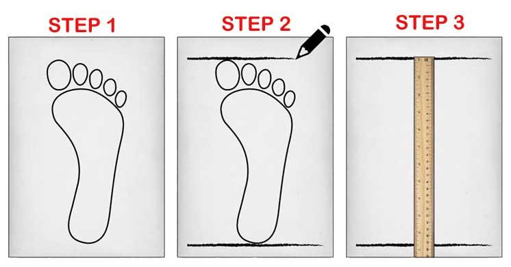 راهنمای انتخاب سایز پا